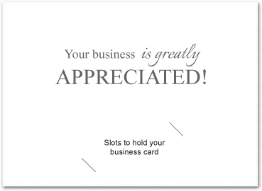 Business thank you cards with slots business greeting cards my custom inside greeting doesnt look the same as yours dont worry once we receive your order our art department will send a free proof for your m4hsunfo