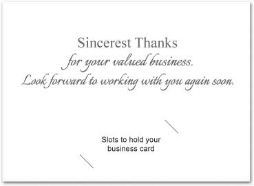 Business thank you cards with slots business greeting cards my custom inside greeting doesnt look the same as yours dont worry once we receive your order our art department will send a free proof for your colourmoves