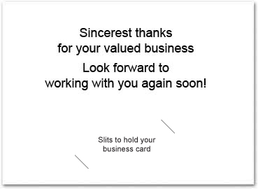 Business thank you card with slits business greeting cards greeting card size 5 x 7 reheart Image collections