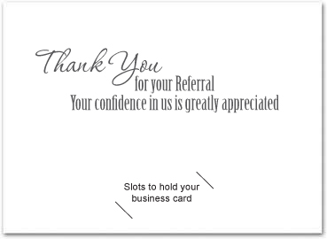 Business referral cards my custom inside greeting doesnt look the same as yours dont worry once we receive your order our art department will send a free proof for your expocarfo Images