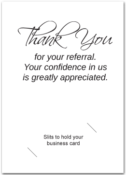 business referral cards business greeting cards