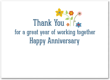 Employee anniversary cards business anniversary cards greeting card size 5 x 7 m4hsunfo