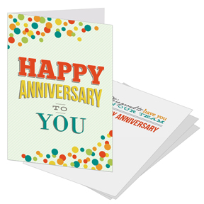 Anniversary cards for employees and business clients