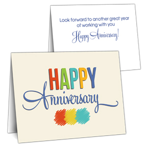 anniversary cards for employees and business clients - Work Anniversary Cards