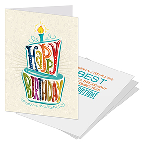 Birthday card for clients and employees