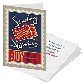 Postage Stamp Business Birthday Cards