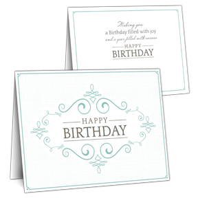 Framed Business Birthday Card
