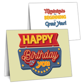 Happy Birthday Signage Greeting Card
