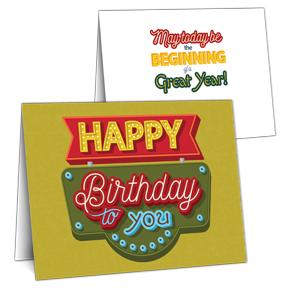 Happy Birthday Signage Greeting Card