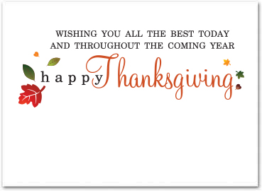 Business thanksgiving cards business greeting cards greeting card size 5 x 7 reheart Image collections