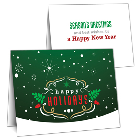 Winter Green Business Holiday Card