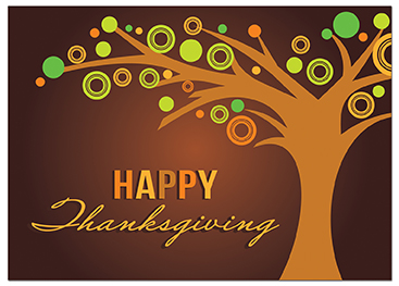 Business thanksgiving cards business greeting cards c931 thanksgiving card tree of circles colourmoves
