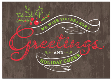C932 - Holiday Card - Greetings Banner