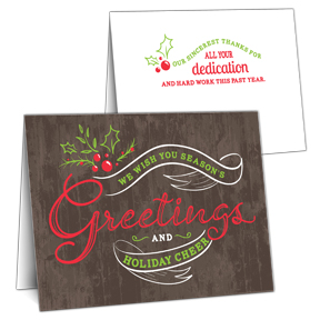 Employee Holiday Card - Employee Christmas Card