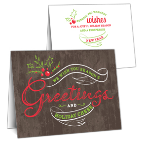 Greetings Banner Corporate Christmas Cards
