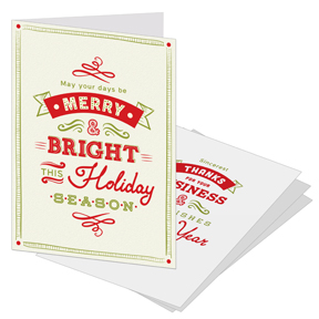 Merry & Bright Corporate Christmas Card