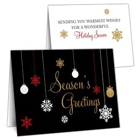 Ornament Business Christmas Cards
