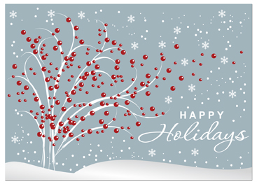 Business christmas cards business greeting cards c948 holiday card tree n berries colourmoves