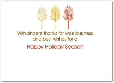 Business thanksgiving card business greeting cards my custom inside greeting doesnt look the same as yours dont worry once we receive your order our art department will send a free proof for your m4hsunfo