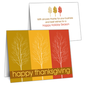 Treescape Business Thanksgiving Cards