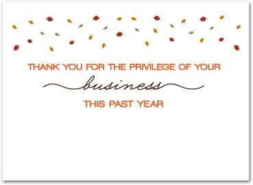 Business thanksgiving cards business greeting cards my custom inside greeting doesnt look the same as yours dont worry once we receive your order our art department will send a free proof for your reheart Image collections