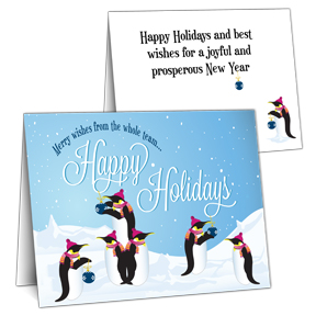 Penguins Business Christmas Cards