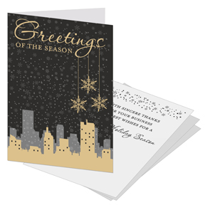 Cityscape Business Christmas Cards