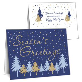 Fir Trees Business Christmas Cards