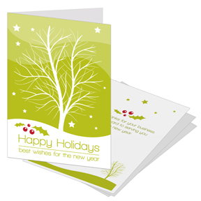 Single Tree Business Holiday Card
