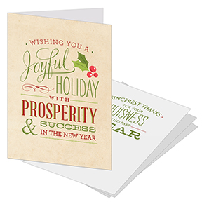 Joyful Holly business christmas card