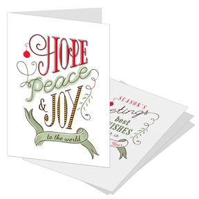 Hope & Joy Busines Holiday Card