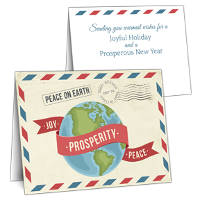 Postal Globe Business Christmas Cards