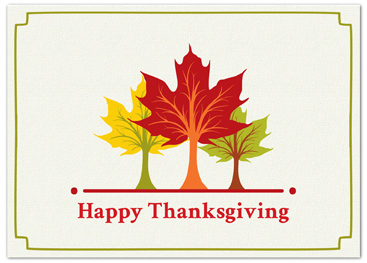 Business thanksgiving cards business greeting cards c995 thanksgiving card trio of trees reheart Gallery