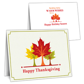 Trio of Trees Thanksgiving Card