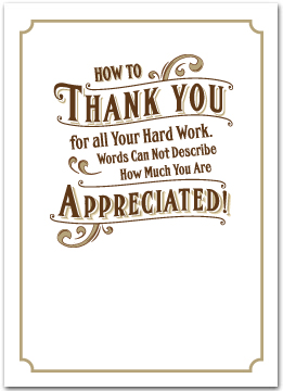 Employee appreciation cards business greeting cards e116 employee hard work reheart Choice Image
