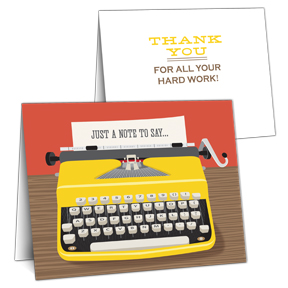 Typewriter Employee Appreciation