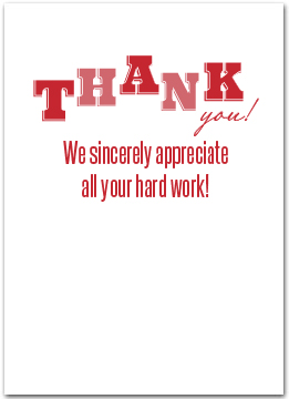 Employee Appreciation Quotes Custom Employee Appreciation Products  Business Greeting Cards
