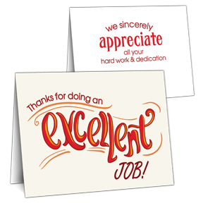 Excellent Employee Appreciation Card