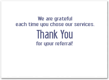 Thank You For Business Referrals Business Greeting Cards