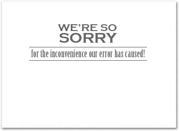 Business apology cards business greeting cards m4hsunfo
