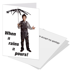 Apology Business Greeting Cards