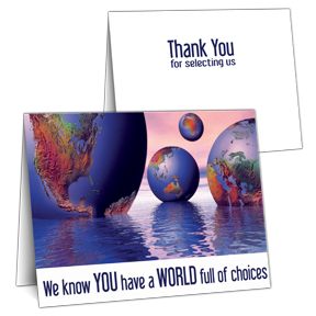 World of Choices Thank You Card