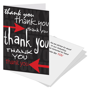 Black Elegance Business Thank You Card