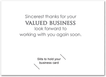 Thank you card for business selowithjo corporate and business thank you cards with slots business accmission Gallery
