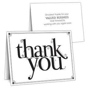 Blooming Thanks Business Thank You Card