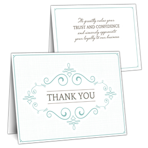Bulk business thank you cards