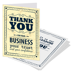 Thank you cards with slots for business card