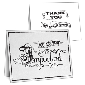 Important to us Business thank you card