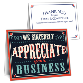 Appreciation Plaque Corporate Thank You Card