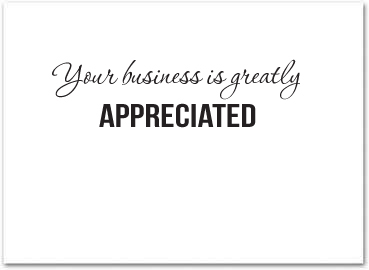 Bulk Business Thank You Cards - Business Greeting Cards